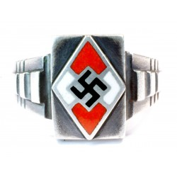 Hitler youth silver enamel ring
