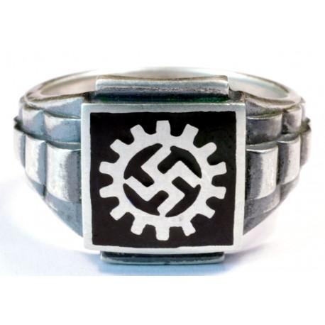 WWII Deutsche Arbeitsfront silver ring