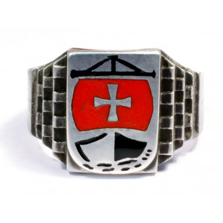 Crusaders Ship Silver ring