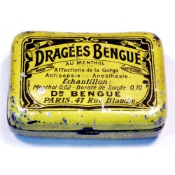 French vintage drops Tin - DRAGEES BENGUE