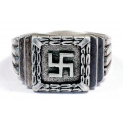 Silver Swastika Ring