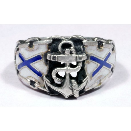 Russian seamen silver ring