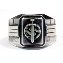 Silver SA Defence Badge ring