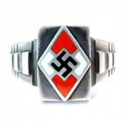 Hitler youth silver enamel ring