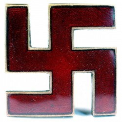 WWII Nazi German ENAMELED Swastika pin/badge