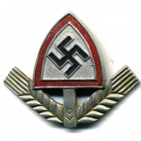 R.A.D. Labour Corps Officer's metal and enamel insignia.