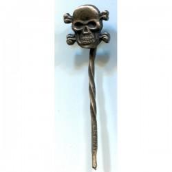 German Skull stickpin