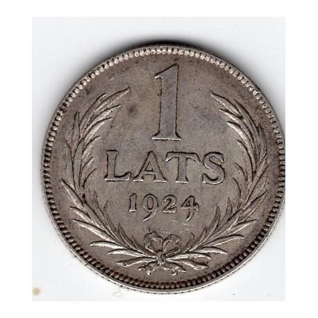 Latvian Silver Lats 1924