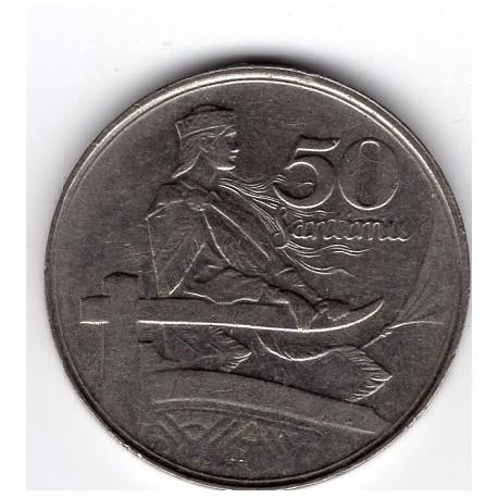 Latvia coin 50 Santimu 1922
