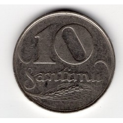 Latvia coin 10 Santimu 1922