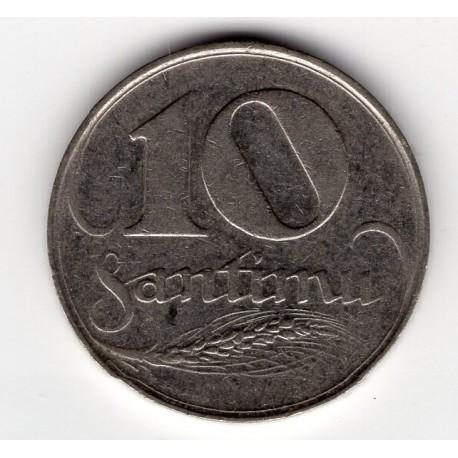 Latvia coin 10 Santimu 1922