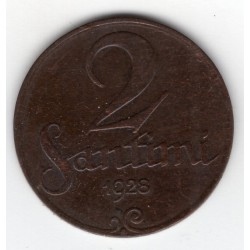 Latvia coin 2 Santimi 1928