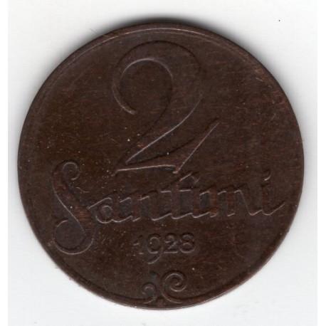 Latvia coin 2 Santimi 1928
