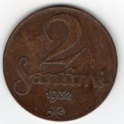 Latvia coin 2 Santimi 1932