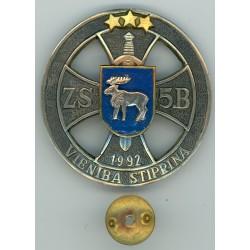 Latvijas Republikas Zemessardzes 5.brigādes krūšu zīme