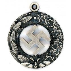 German WWII Silver swastika pendant