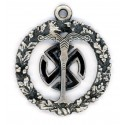 Third Reich Occult History Ahnenerbe silver pendant