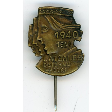 The stickpin of the  Latvian Latgale song feast