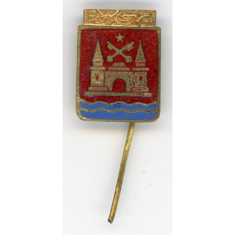 The Latvian soviet vintage stick pin Rīga
