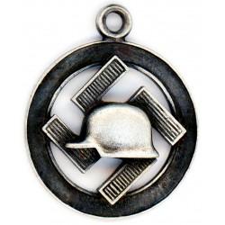 German WWII silver Der Stahlhelm pendant