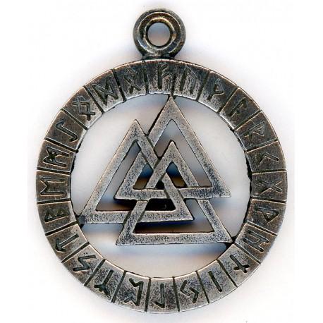 German WW2 Silver Runic Pendant