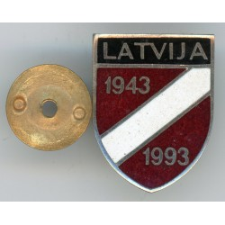 The memoril badge of the Latvian Legionnaires 1943-1993
