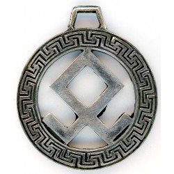 German WW2 Sterling Silver Runic Pendant