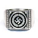 German WW2 Silver Ring with Swastika
