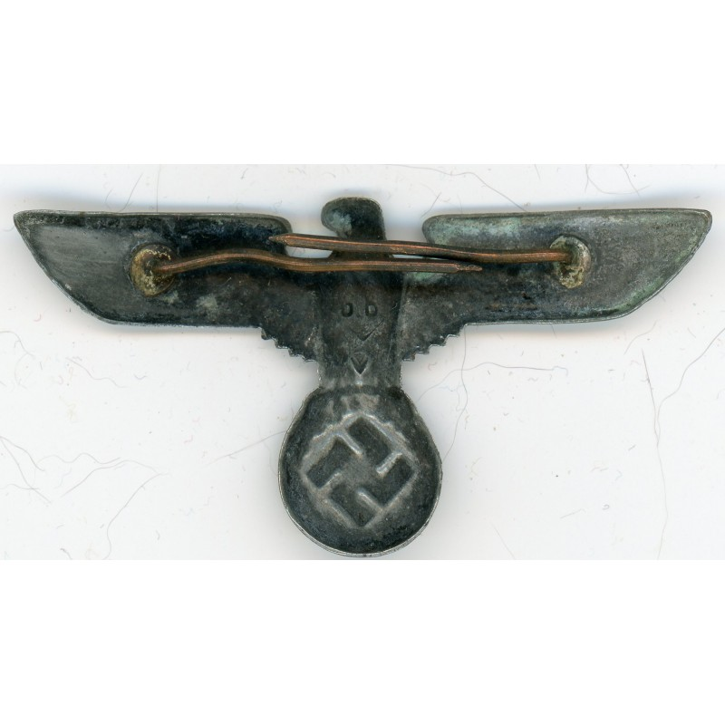 WWII German Aluminum Army Visor Hat Eagle Insignia for sale