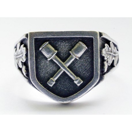 German Dirlewange silver ring