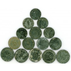 GERMAN WW2 COINS -pfennigs