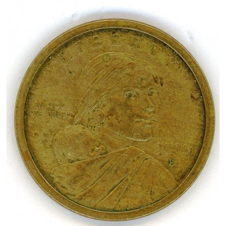 2000 P MINT U.S. NATIVE AMERICAN SACAGAWEA ONE DOLLAR COINS