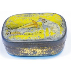 Vintage HMV Gramophone Needle Tin yellow