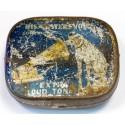 Vintage His Master's Voice 'half tone' gramophone needle tin blue