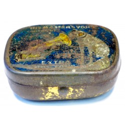 Vintage His Master's Voice 'half tone' gramophone needle tin