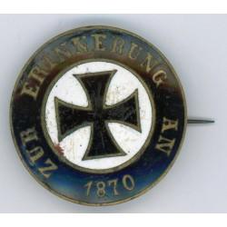 """WWII German patriot medal """"Zur Erinnerung an 1870 """""""
