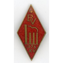 Latvian Secondary school graduation badge BV