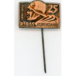 Latvian soviet stick pin Rīgas Atbrīvošanai 25