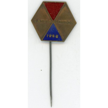 Latvian soviet stick pin Latvia London 1968