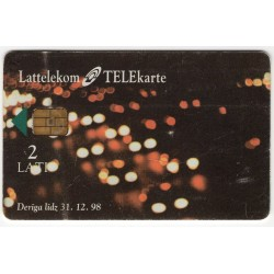 Latvian phone card Lattelekom Meta Systems, alien