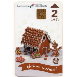 Latvian phone card (Lattelekom)-bright celebration