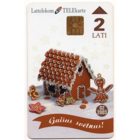 Latvian phone card (Lattelekom)-bright celebration