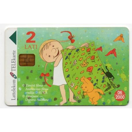 Latvian phone card (Lattelekom) 06/2000