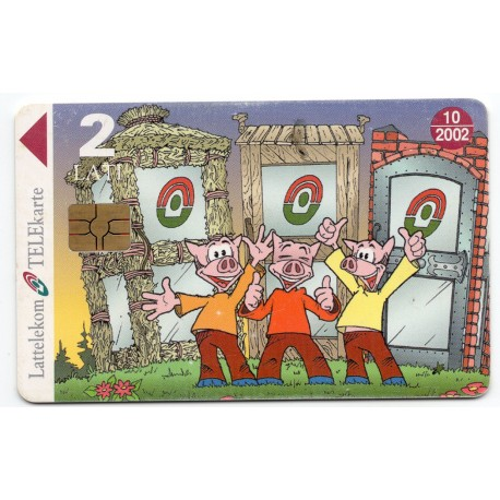 Latvian phone card (Lattelekom) 10/2002