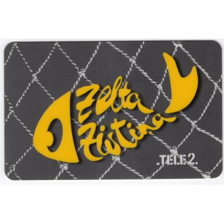 Latvian prepaid phone card  TELE 2 Zelta Zivtiņa