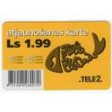 Latvian prepaid  calling card TELE 2 Ls.1.99