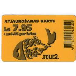 Latvian prepaid  calling card TELE 2 Ls 7.95