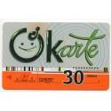 Latvian prepaid  calling card OKarte 30dienas