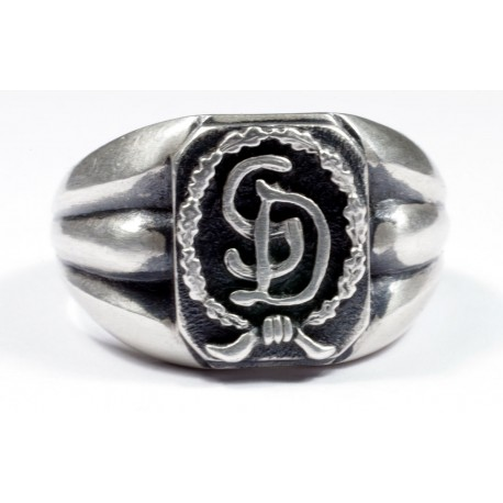 The Großdeutschland Division German silver ring