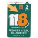 Latvian prepaid Lattelekom calling card TELE 2 Ls
